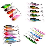 5- color Hard Plastic Lures Fishing Hooks Fishhooks 3D Eyes M...