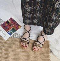La nuova versione coreana della croce studenti retrò semplice fata romana sandali spedizione gratuita