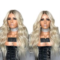 New Sexy Africa American Platinum Blonde Wig 180% Density Lo...