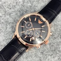 Fashion stainless Steel Quartz Man Leather watch Japan Movem...