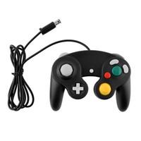 أبيض أسود السلكية التناظرية لعبة تحكم Joypad المقود غمبد ل GameCube NGC DHL FEDEX EMS FREE SHIPPING