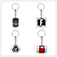 Game Fortnite LOGO keychain Round V Coin Pendant Key Chain f...