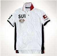 Camisa Polo Verão Vela Equipe Corrida BR lata Ger Espanha País Marca Homens de Manga Curta Esportes T-shirt México UAE Sui NW