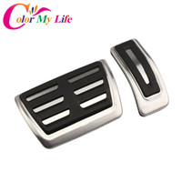 wholesale AT Car Gas Fuel Brake Pedals Car Pedal Cover for A...