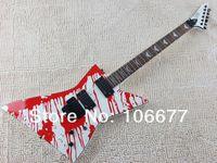 Spedizione gratuita LTD Explorer Custom Shop DJ-500 Blood Tears James Hetfield Active EMG Pickup Floyd Rose Chitarra elettrica