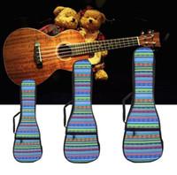 26 Polegadas Dupla Alça de Mão Folk Canvas Ukulele Carry Bag Algodão Acolchoado Caso Para Peças de Guitarra Ukulele Acessórios Nacional