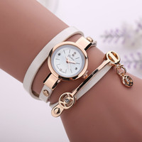 New Fashion Women Bracelet Watch Gold Quartz Gift Watch Wris...