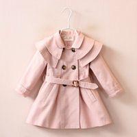 Nuovi giubbotti autunnali Cappotto per bambini Giacche per bambini Abbigliamento per bambini Giacca a doppio petto Giacca a vento Moda Ragazze Trench