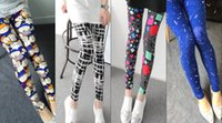Women Leggings 20 Styles Free Shipping Graphic Printed Lady ...