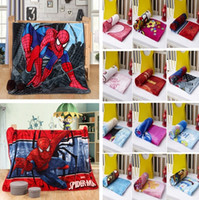 Newest Kids Blankets Flannel spider- man Trolls Warm cartoon ...