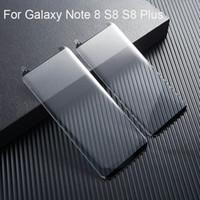 Para samsung galaxy note8 s8 s9 além de protetor de tela 9 h 3d curvo película protetora de vidro caso de vidro temperado meia curva