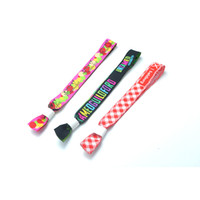 Custom Printed Sublimation Fabric Wristbands Ribbon Fabric S...