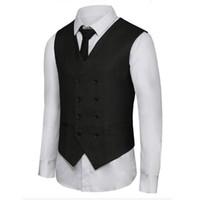 Erkek yelek son tasarım erkekler yelek kruvaze iş takım elbise elbise yelek custom made resmi yaptım