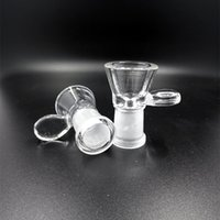 Glass Funnel Female Bowl for Bong with Handle Smoking Access...