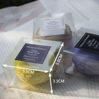 5.5 سنتيمتر x 5.5 سنتيمتر x 3.3 سنتيمتر واضح البلاستيك معكرون مربع ل 1 macarons bomboniere تفضل صناديق الحلوى LX0401