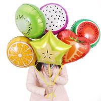 Palloncini in alluminio con frutta da 18 pollici Palloncini a più frutti Palloncino ad elio Compleanno per bambini Decorazioni per feste di nozze Forniture festive