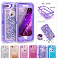 Hybrid 3D Glitter Armor Case for iPhone 6 6S 7 8 Plus X XS X...