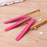 3pcs Professional Eyebrow Tweezers Hair Beauty Slanted Stain...