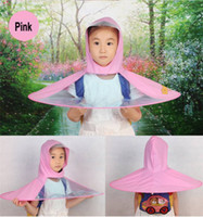 야외 Unisex 낚시 골프 어린이 성인 커버 투명한 우산 레인 코트 우비 우산 모자 모자 모자 S / M / L