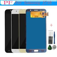 Yüksek Kalite LCD + Dokunmatik Ekran Samsung Galaxy Için J7 2016 J710 J710F J710M J710H LCD Ekran Digitizer Meclisi 5.5 inç + Onarım aracı