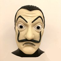 Hot Sale Latex La Case De Papel Mask Salvador Dali Movie Cos...