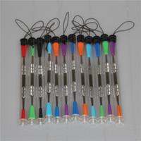 100pcs Cera dabbers strumento tamponando con inserti in silicone 120mm strumento vetro dabber tubo in acciaio inox per pulizia