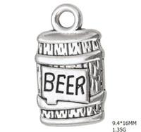 2021 زجاجة سبائك الزنك من البيرة العائمة سحر diy شرب المجوهرات صنع الأنسجة