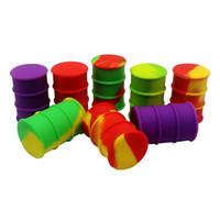 Honig-Topf-zusammenklappbare Silikon-Behälter Antihaft-Platin kurierte Öl-Trommel-Fass-Silikon-Wachs-Glas für das Speichern der stickiest Auszüge