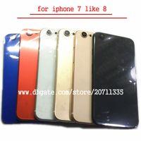 A quality Für iPhone 7 Like 8 Style 8 Rückseite Rückseite Batteriefach Gehäusetür Chassis Middle Frame