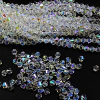 bianco AB Bicone sfaccettato 5301 # cristallo distanziatore allentato perline gioielli fai da te fare 4 6 mm