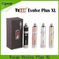Yocan 진화 플러스 XL 왁스 Vape 펜 키트에 1400mAh 배터리와 QUAD 코일 분리가 내장 된 듀얼 구획 실리콘 항아리 DHL 0268064-1