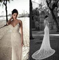 Gali Karten 2020 Lace Mermaid Wedding Dresses Backless Spagh...