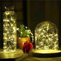 LED Vase string light waterproof button battery operated fai...