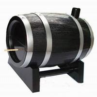 Nuova vendita calda 60 PCS Creativo Wine Barrel Shape Automatic Dente Stuzzicadenti Cotton Box Tampone Caso Contenitore Colore casuale
