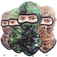 Camo fisher balıkçılık şapka kamuflaj taktik maske kapakları nefes hızla kuru orman tam yüz maskesi CS yürüyüş bisiklet maskeleri