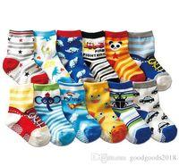 12 calcetines de algodón estilo Bebé calcetines de goma antideslizantes calcetines de dibujos animados para niños pequeños calcetines 1--3 bebé b901
