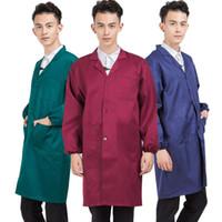 Profesyonel Unisex 3-Pocket Aşınmaya dayanıklı Lab Coat erkek koruyucu giyim Kadın Coat