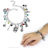 Movie Crystal Beads Alloy Pendant Bracelet Charm Boho Bracel...