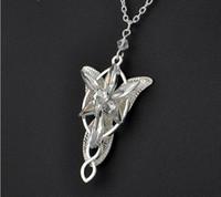 Evenstar кулон ожерелья для женщин Арвен Кристалл колье ожерелье Хоббит фильмы посеребренные ювелирные изделия