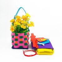 Fai da te EVA Woven Flower Basket Bambini bambini Scuola materna Arti e mestieri DIY Giocattoli 2018 NUOVA borsa di Halloween