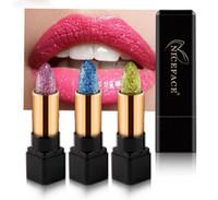 고품질 NICEFACE 방수 7 색 다이아몬드 립스틱 롱 라스팅 화장품 메이크업 무료 배송