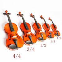 Haute Qualité 1/8 1/4 1/2 3/4 4/4 Violon Violon Basswood Corps En Acier Corde Arbor Arc Instrument À Cordes Musical Jouet pour Enfants