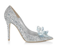 2021 europäische sexy frauen schuhe high heels fein mit spitzen pumpen cinderella kristall luxus US Größe: 4-9