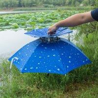 Protezione esterna Sport Umbrella Hat escursionismo Beach Camping Copricapo Ultraviolet-Proof Cappello Cappelli Camouflage pieghevole regalo degli accessori pesca