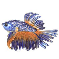 Bejeweled Crowntail Beta Fish Frinket Boxes Ювелирные Изделия Контейнер Национальный Украшение Новинка Подарок