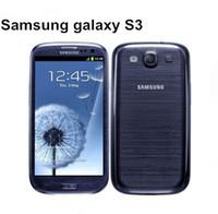 Envío gratuito de DHL Original Samsung Galaxy S3 i9300 Teléfono celular Quad Core Cámara de 8MP NFC GPS Wifi 3G desbloqueado Teléfono reacondicionado