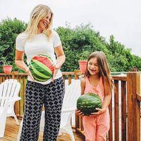 Camiseta de maternidad de maternidad divertidas ropa ropas sandía pescado impresión ropa embarazadas algodón de la manera embarazada Tops T Ropa