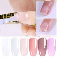 Extensión del polaco del gel desnuda claro rosado 7,5 ml de acrílico rápida puntas de las uñas UV Gel de construcción camuflaje Nail Art
