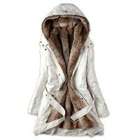 2017 L'Europe et les États-Unis Automne Hiver Mode Manteau À Capuchon De Plus-size Femmes / Épaississement Du Chaud Long Coton-Rembourré Vêtements 590
