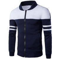 HENGSONG 2018 Frühling Herbst Männer Golf Jacken Mantel Gestreiften Patchwork Slim Fit Jacke Für Männer Männlichen Mann Sportjacke Sportwear